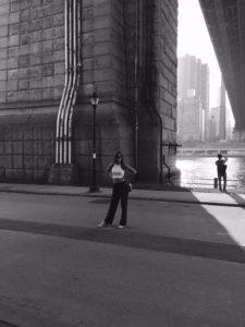Paulina at Brooklyn Bridge