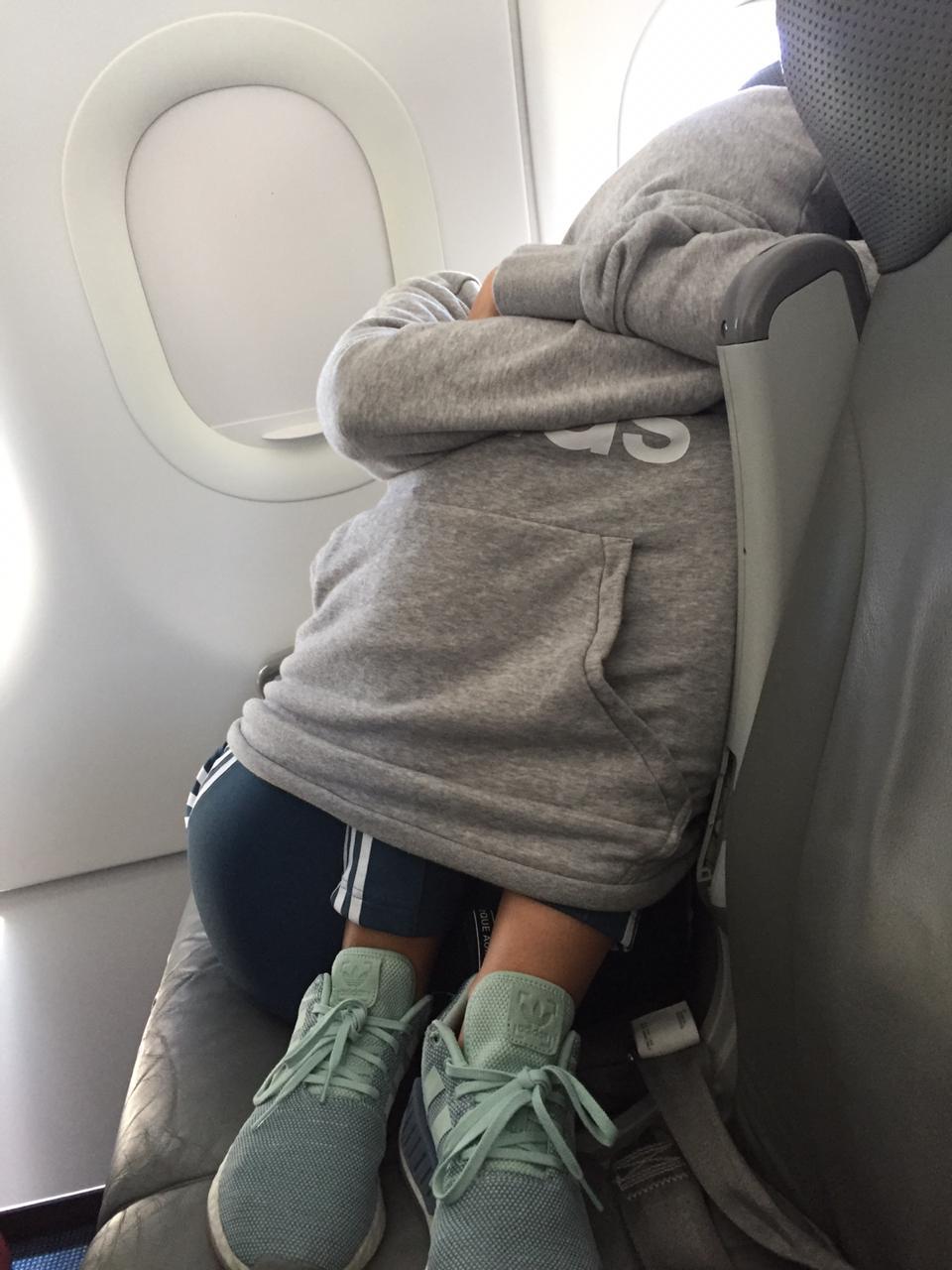 sleeping on a flight